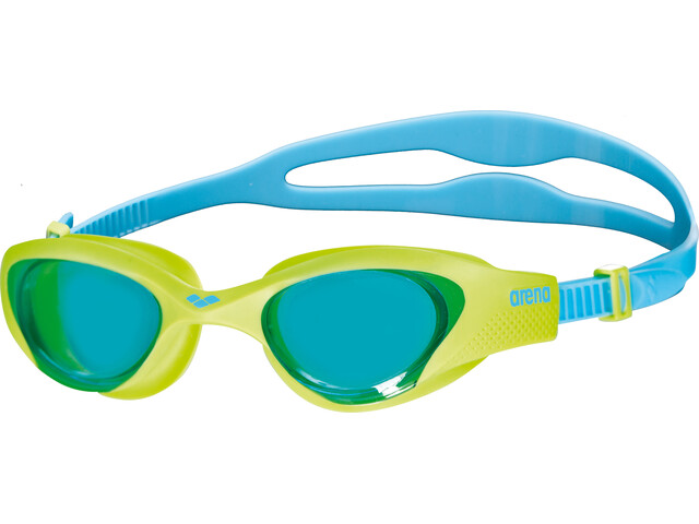 arena The One Goggles Juniors lightblue-lime-blue